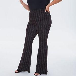 Metallic-Threaded Pants
